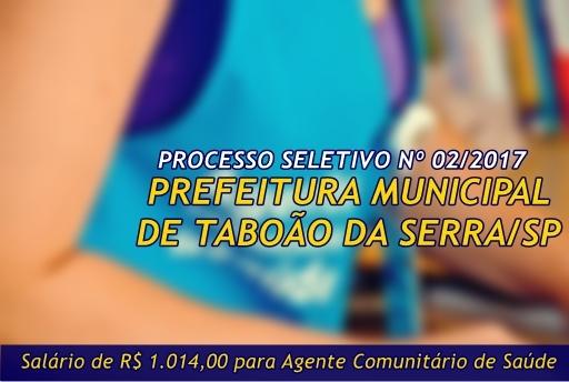 Apostila Processo Seletivo Prefeitura de Taboão da Serra (SP) Agente de Saúde