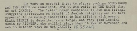 May 19, 1941 - KV 2/30 - 15a - Interrogation of Karel Richter by Lt. Short re: Clara Bauerle.
