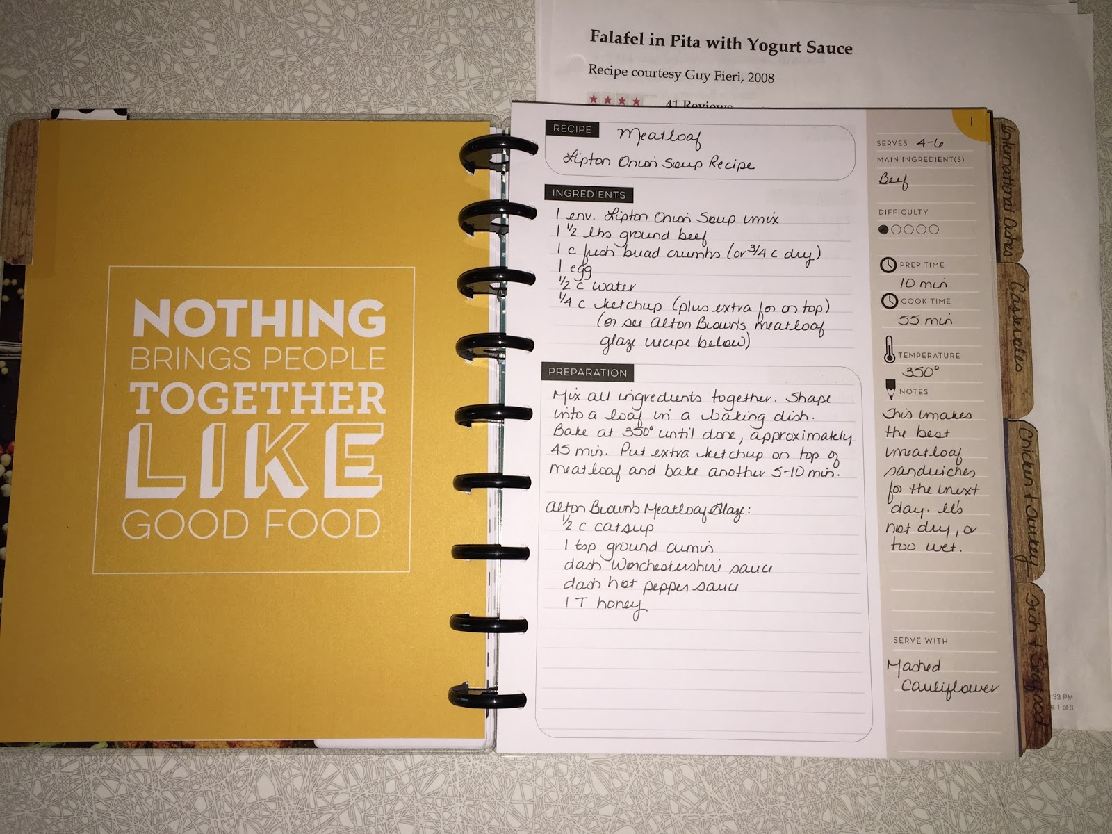 A Creative Operation: The Happy Planner Recipe Project