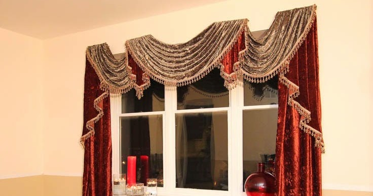Unique Red Velvet Curtains And Drapes For Window