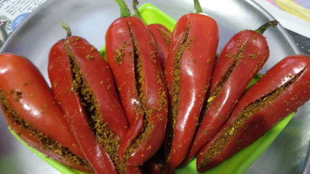 stuffed red chilli