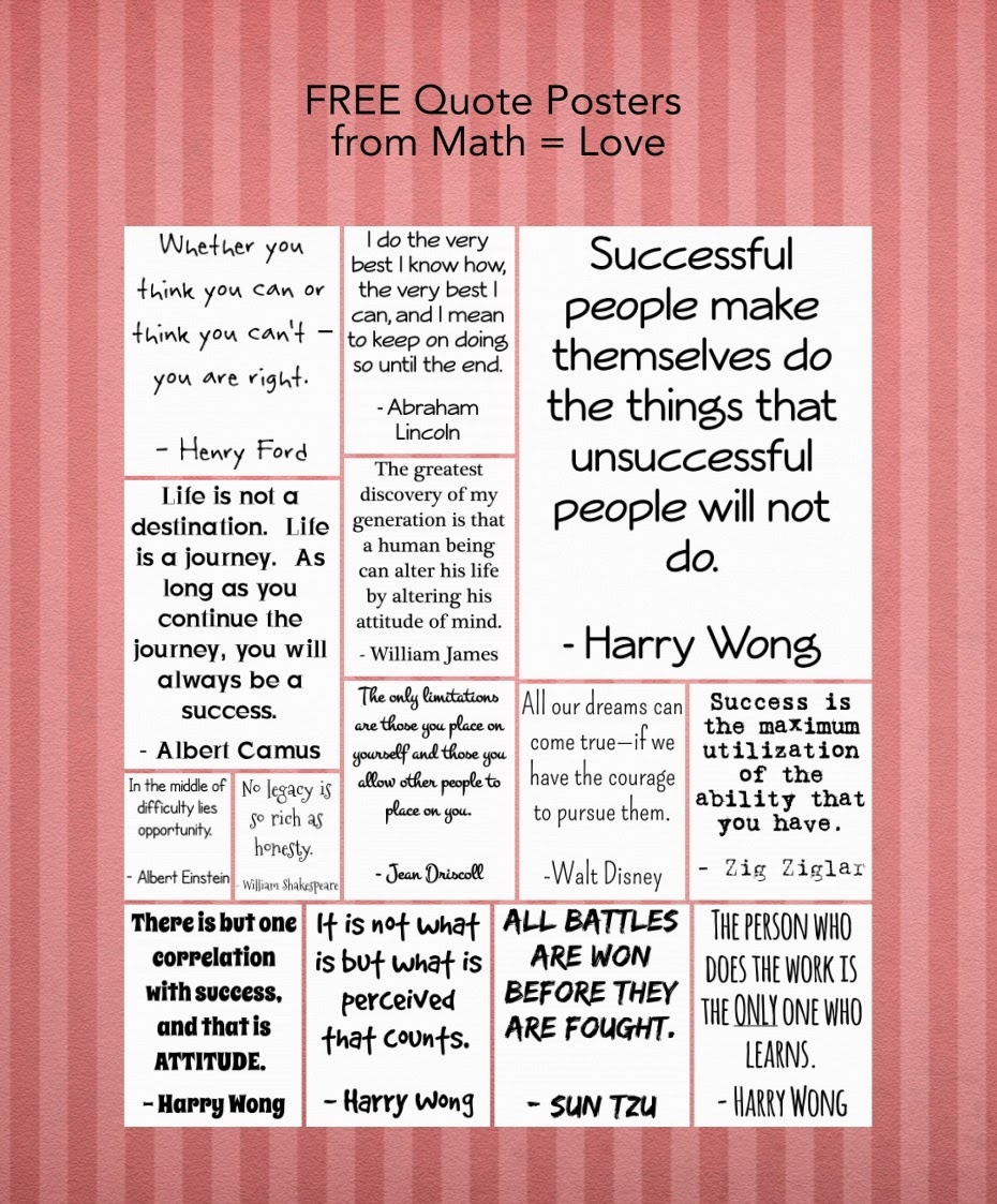 Growth Mindset Quotes On Being Wrong: Math = Love: Free Quote Posters / Growth Mindset Discussion