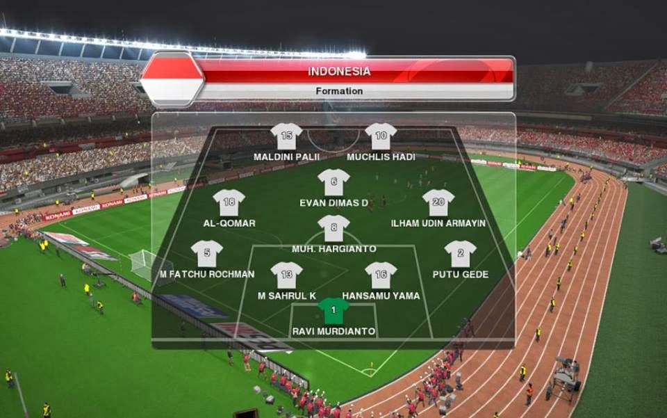 PESMODIF: PES 2014 Timnas Indonesia U19 By FiqarGFX