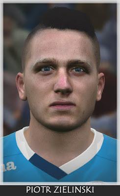 PES 2016 Piotr Zielinski (Napoli) Face by Bono Facemaker