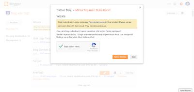 """Blog terkena Banned sedang Ajukan Banding"""