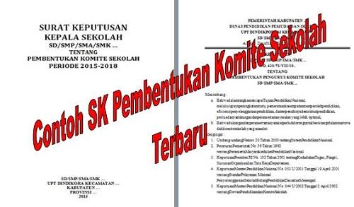 Contoh SK Pembentukan Komite Sekolah Terbaru