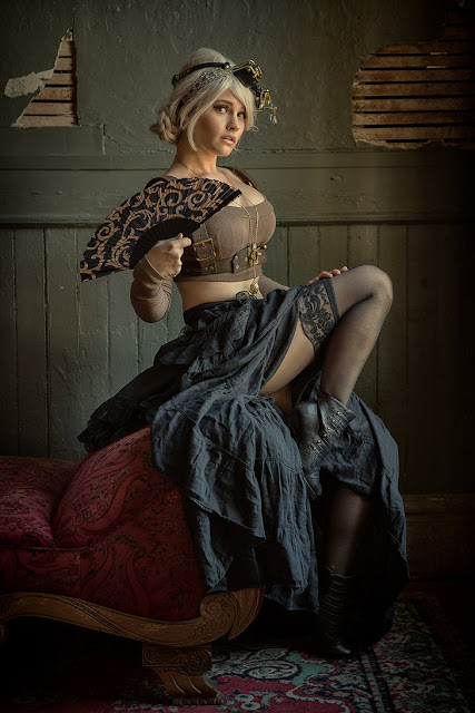 Women's modern sexy steampunk clothing. Fashion inspiration for steampunk costumes with a modern twist.