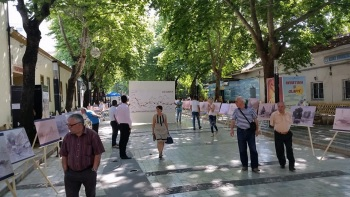 Eduart Lir's paintings of Albania exhibited in Tirana as the latest photos of Egnatia Road