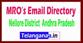 Nellore District Andhra Pradesh State MRO's Email Directory