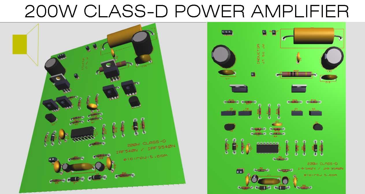 clas d amplifier circuit diagram [ 1264 x 672 Pixel ]