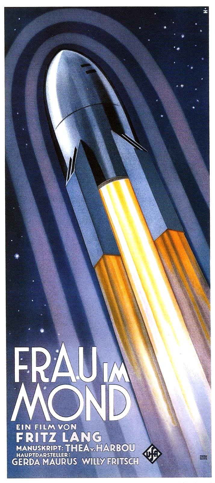 Alfred Herrmann 1929 poster for Fritz Lang's Frau im Mond