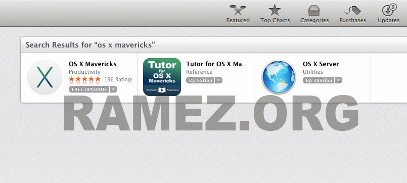 Cara Install Upgrade OS X Maverics 10.9 Gratis Dari Apple