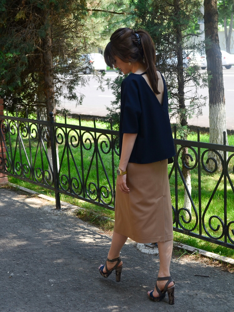 fashion_blogger_diyorasnotes_street_style_midi_skirt_top_mango_clutch_asos