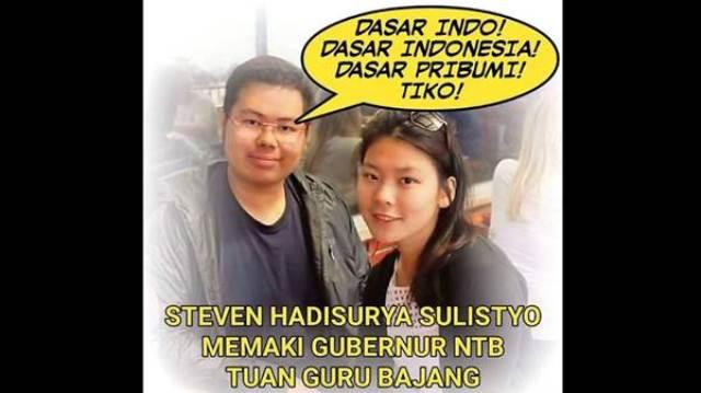 Steven, Pergilah Kau dari Indonesia, Negeri Ini Dimerdekakan Pribumi!