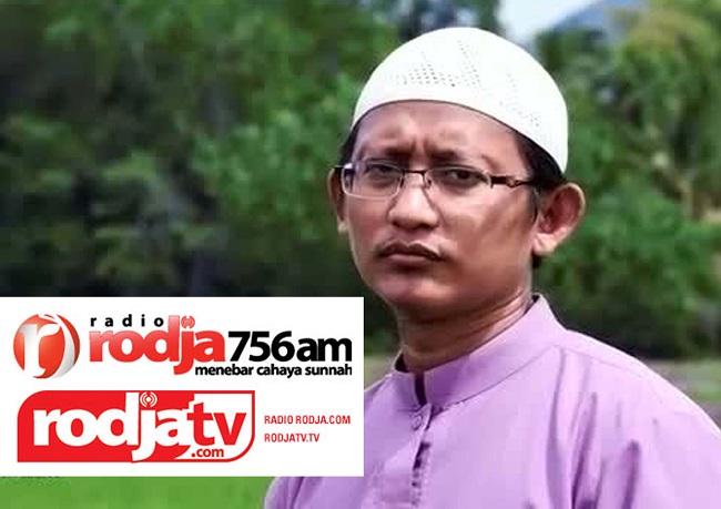 Badru Salam pendiri Rodja TV dikecam karena mendukung Syi'ah Bashar Assad, membid'ahkan liqo' dan membela Densus 88