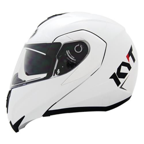 helm kyt RRX - Solid White Pearl Gold