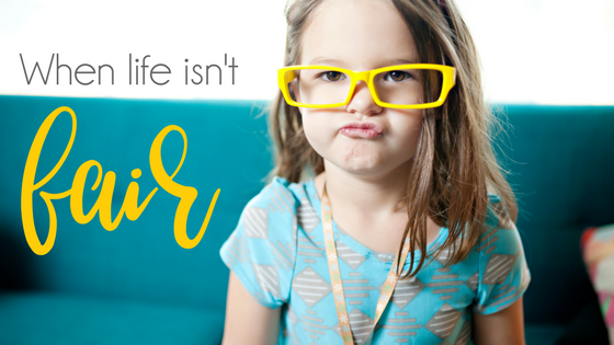 A blog post all about teaching kids that life isn't fair and that's okay