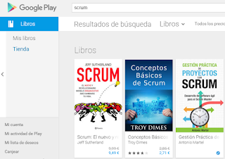 Gestión práctica de proyectos con Scrum en Google Play Books