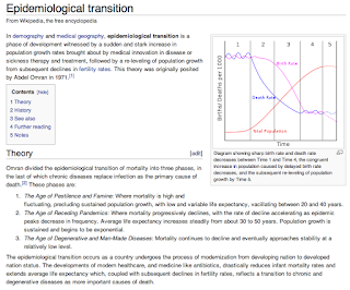 Cool Wikipedia page of the day: Epidemiological transition