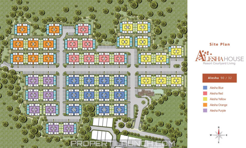 Site Plan Alesha House @ Vanya Park BSD City