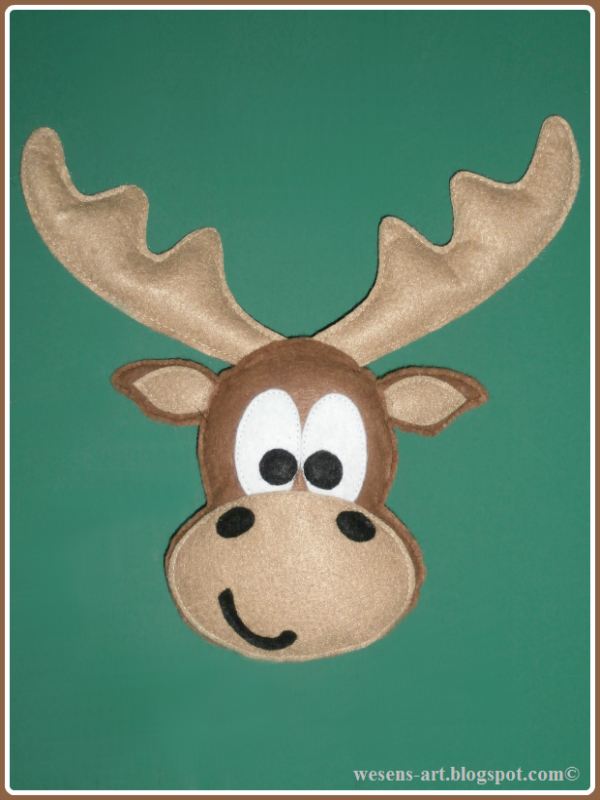 Moritz the moose  wesens-art.blogspot.com