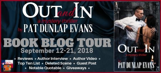 Out and In book blog tour promotion banner