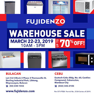 fujidenzo appliances warehouse sale in cebu and bulacan