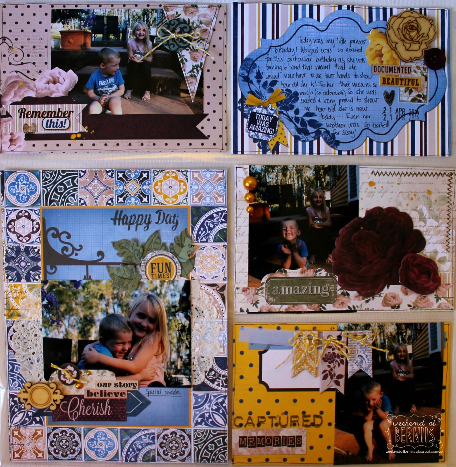 Happy Days Misc Me layout be Bernii Miller for BoBunny using the Rose Cafe collection.