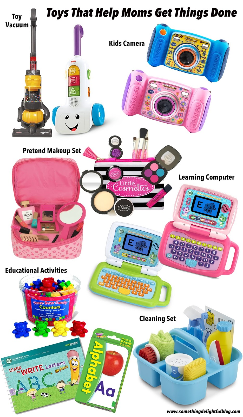 Toys that help moms get things done - Click through to read more on Something Delightful Blog