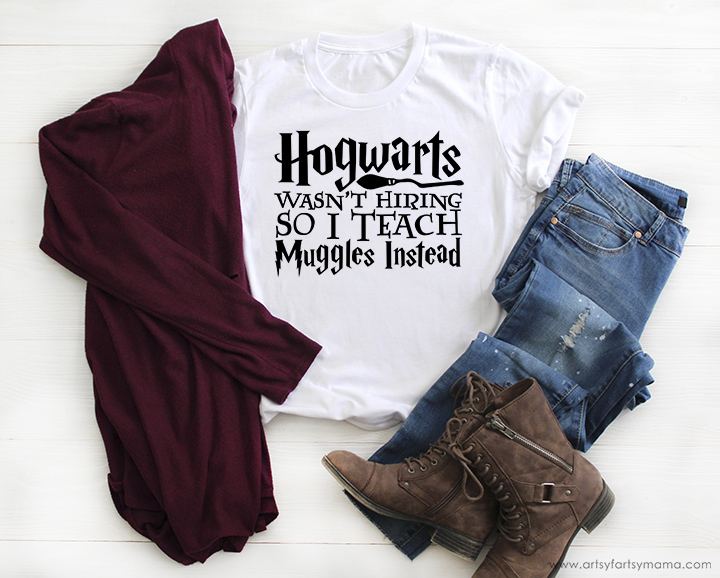 Hogwarts Muggle Teacher Shirt with Free Cut File