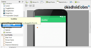 Widget SeekBar Android Studio