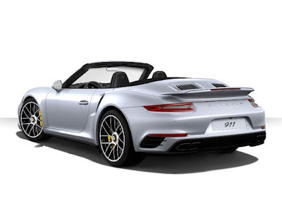 exterior color: Porsche 911 Turbo S Cabriolet with standard and metallic color