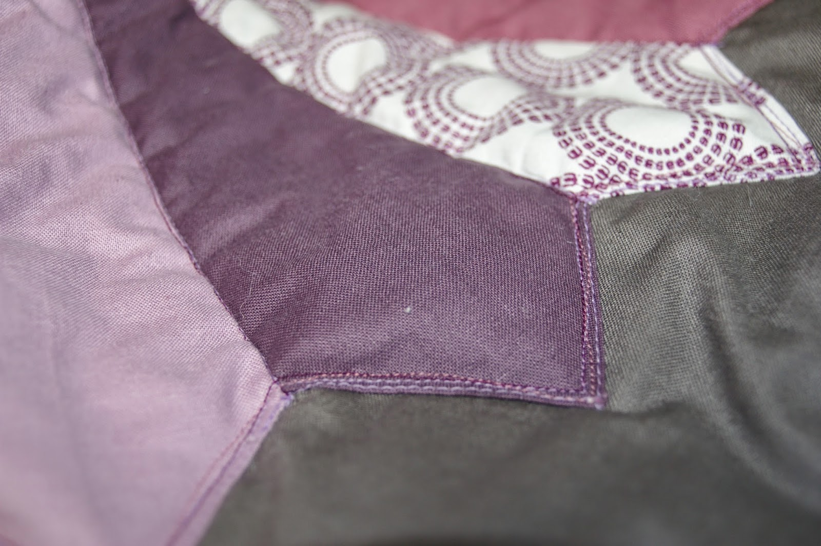 quilting purple dresden applique