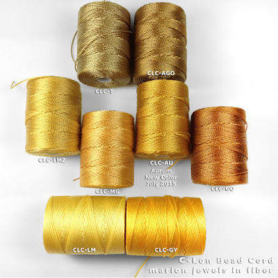 Compare C-Lon Bead Cord Aurum to other Gold Tones