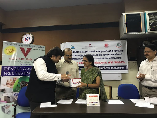 Voxtur Bio Pvt Ltd held two free dengue fever detection camp in Kochi