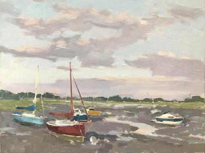 #227 'Low Tide Bosham Harbour' 24x30cm