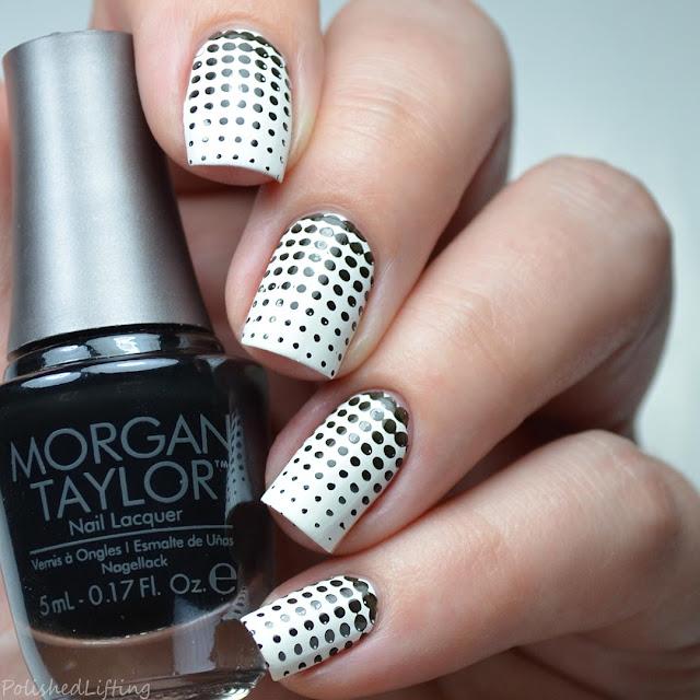 gradient dotticure nail art