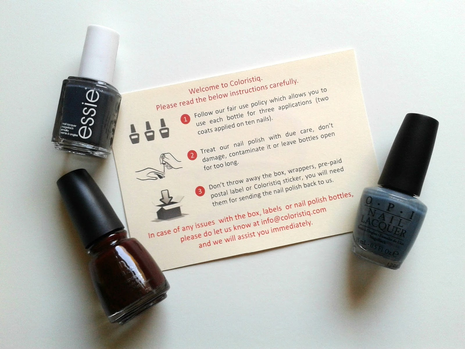 Coloristiq Beauty Review China Glaze OPI Essie Nail Polishes