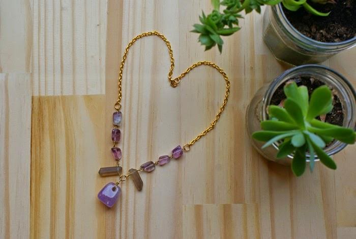 handmade necklace jewelry fluorite quartz