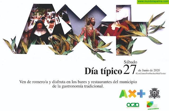 El Ayuntamiento de Los Llanos de Aridane invita a restaurantes, bares y cafeterías a ofrecer comida tradicional para celebrar el Día Típico