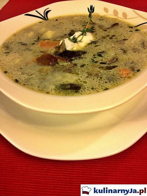 Zupa grzybowa - jesienna, domowa