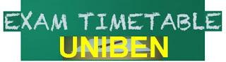 uniben postgraduate entrance exam time table
