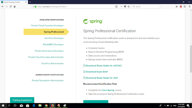 How to schedule exam for Core Spring Certification