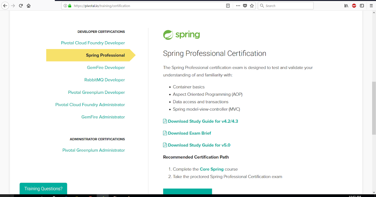 How to Schedule Spring Professional Certification Exam using