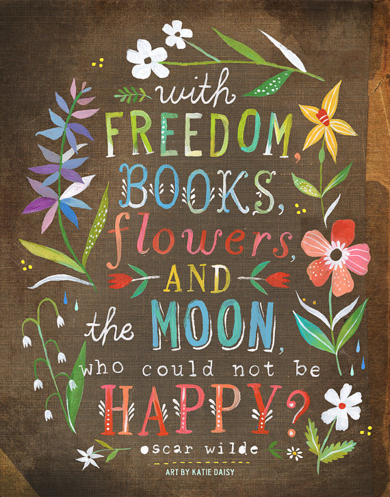 Lindsay 39 s library 25 bookish art prints to add to your wishlist - Flowers that mean freedom ...