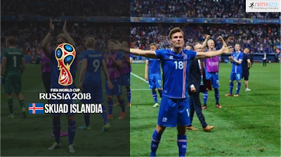 Skuad Susunan Pemain Islandia di Piala Dunia 2018