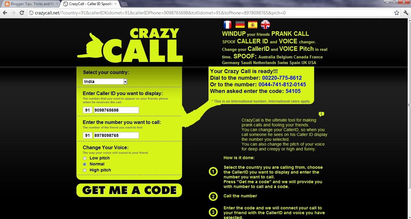 Call your friend with his own number: Call Spoofing | Tips
