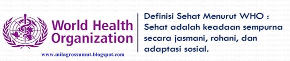 defenisi sehat menurut WHO