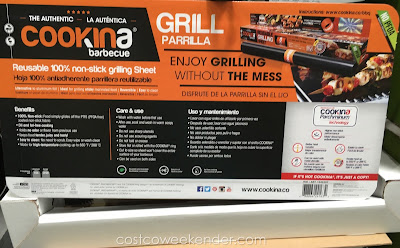 Costco 1045207 - Cookina BBQ Non-Stick Grilling Sheets - Retains the grill marks