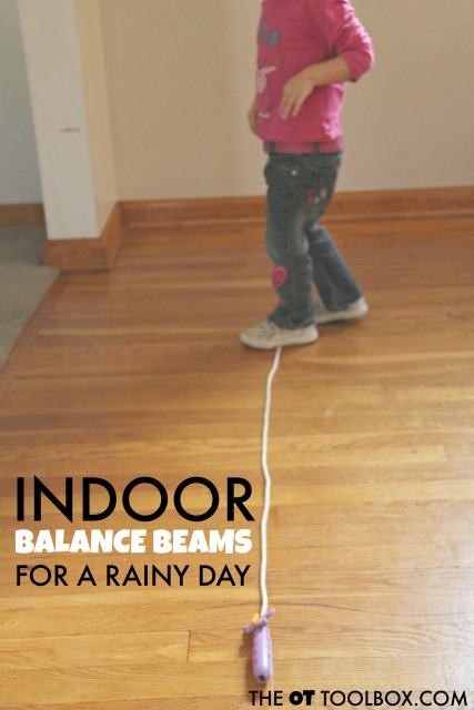 Indoor balance beam ideas for a rainy day